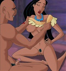 Free Pocahontas grips her lover's exhausting shaft up her pussy (pictures)